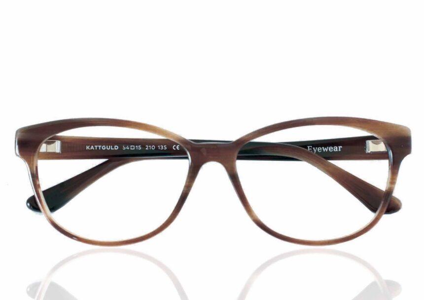 Taberg glasögon kattguld brun växtbaserad acetat